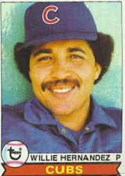1979 Topps Baseball Cards      614     Willie Hernandez