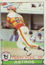 1979 Topps Baseball Cards      617     Terry Puhl