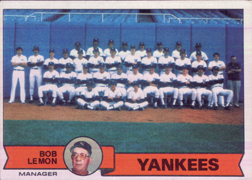 1979 Topps Baseball Cards      626     New York Yankees CL/Bob Lemon