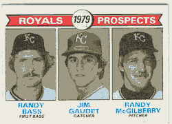 1979 Topps Baseball Cards      707     Randy Bass/Jim Gaudet/Randy McGilberry RC