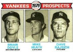 1979 Topps Baseball Cards      710     Brian Doyle/Mike Heath/Dave Rajisch RC