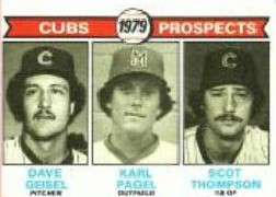 1979 Topps Baseball Cards      716     Dave Geisel/Karl Pagel/Scot Thompson RC