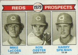 1979 Topps Baseball Cards      717     Mke LaCoss/Ron Oester/Harry Spilman RC
