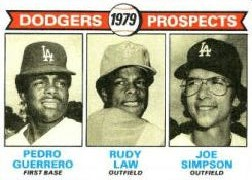 1979 Topps Baseball Cards      719     Pedro Guerrero/Rudy Law/Joe Simpson RC