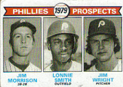 1979 Topps Baseball Cards      722     Jim Morrison/Lonnie Smith/Jim Wright RC