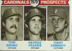 1979 Topps Baseball Cards      724     Tom Bruno/George Frazier/Terry Kennedy RC