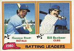1981 Topps Baseball Cards      001      George Brett/Bill Buckner LL