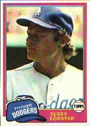 1981 Topps Baseball Cards      104     Terry Forster
