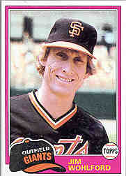 1981 Topps Baseball Cards      011      Jim Wohlford