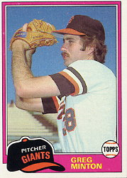 1981 Topps Baseball Cards      111     Greg Minton