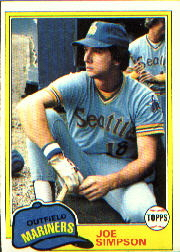 1981 Topps Baseball Cards      116     Joe Simpson