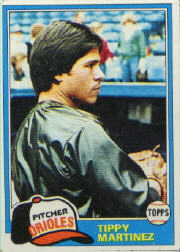 1981 Topps Baseball Cards      119     Tippy Martinez