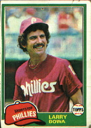 1981 Topps Baseball Cards      120     Larry Bowa