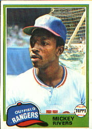 1981 Topps Baseball Cards      145     Mickey Rivers