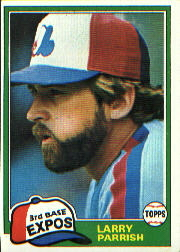 1981 Topps Baseball Cards      015      Larry Parrish
