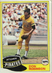 1981 Topps Baseball Cards      168     Don Robinson