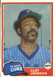 1981 Topps Baseball Cards      017      Cliff Johnson