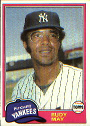 1981 Topps Baseball Cards      179     Rudy May