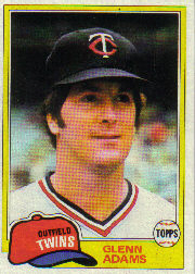 1981 Topps Baseball Cards      018      Glenn Adams