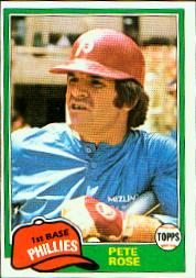 1981 Topps Baseball Cards      180     Pete Rose