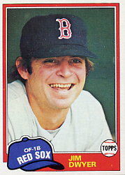 1981 Topps Baseball Cards      184     Jim Dwyer