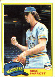 1981 Topps Baseball Cards      187     Mike Parrott