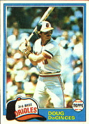 1981 Topps Baseball Cards      188     Doug DeCinces