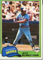 1981 Topps Baseball Cards      020      Jeff Burroughs