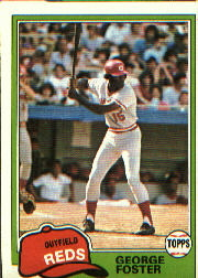 1981 Topps Baseball Cards      200     George Foster