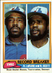 1981 Topps Baseball Cards      204     Ron LeFlore/Rodney Scott RB