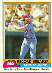 1981 Topps Baseball Cards      206     Mike Schmidt RB
