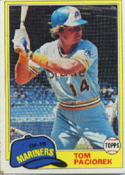 1981 Topps Baseball Cards      228     Tom Paciorek