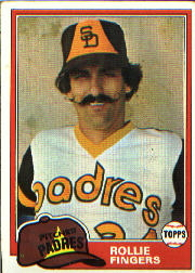 1981 Topps Baseball Cards      229     Rollie Fingers