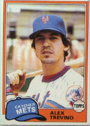 1981 Topps Baseball Cards      023      Alex Trevino