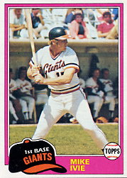 1981 Topps Baseball Cards      236     Mike Ivie
