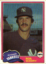 1981 Topps Baseball Cards      250     Ron Guidry