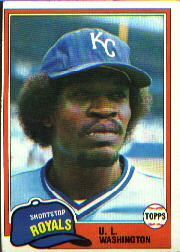 1981 Topps Baseball Cards      026      U.L. Washington