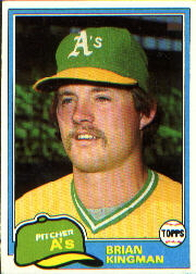 1981 Topps Baseball Cards      284     Brian Kingman