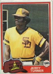 1981 Topps Baseball Cards      285     Jerry Turner
