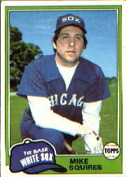 1981 Topps Baseball Cards      292     Mike Squires