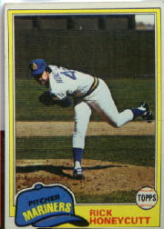 1981 Topps Baseball Cards      033      Rick Honeycutt