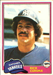 1981 Topps Baseball Cards      335     Rick Cerone