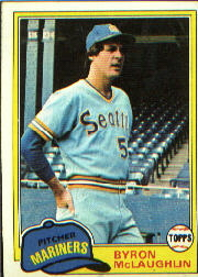 1981 Topps Baseball Cards      344     Byron McLaughlin