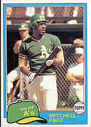 1981 Topps Baseball Cards      035      Mitchell Page