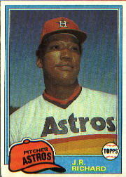 1981 Topps Baseball Cards      350     J.R. Richard
