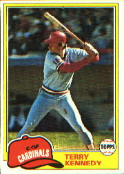 1981 Topps Baseball Cards      353     Terry Kennedy