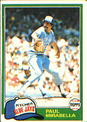 1981 Topps Baseball Cards      382     Paul Mirabella RC