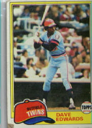 1981 Topps Baseball Cards      386     Dave Edwards