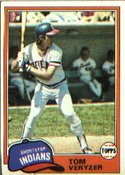 1981 Topps Baseball Cards      039      Tom Veryzer