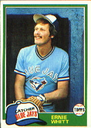 1981 Topps Baseball Cards      407     Ernie Whitt